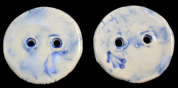 Back of ceramic buttons